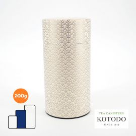 Japanese tea canisters Washi design Collection white paper golden waves