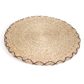 round straw cushion Zabuton Ø44 x 2,5 cm
