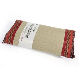 japanese straw cushion yagasuri patterns KAREN 50x30cm