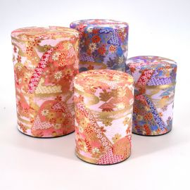 Japanese tea box washi paper 40g 100g pink purple choice