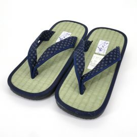 Japanese shoes zori straw goza sakura
