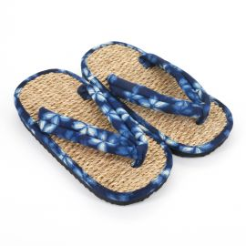 Japanese shoes zori seagrass 041M blue