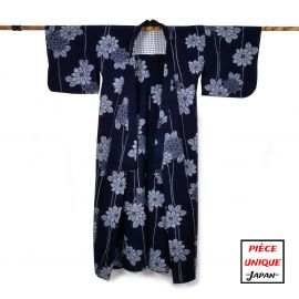 Japanese vintage kimono For Women TAKIBANA blue