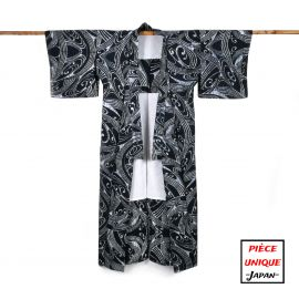 Japanese vintage kimono For Women NAMI waves