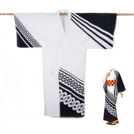 Japanese cotton prestige yukata for women KUROGUSARI white