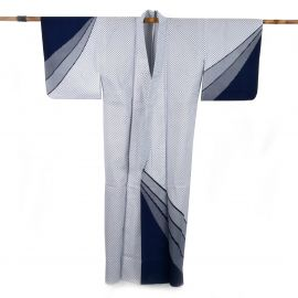 Japanese cotton prestige yukata for women GYOMÔ blue