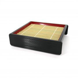 wooden tray for Japanese noodles soba udon, ZARU, bamboo mat