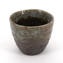 japanese black and grey teacup in ceramic SHINO