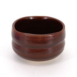 Japanese tea bowl for ceremony, SABI, red