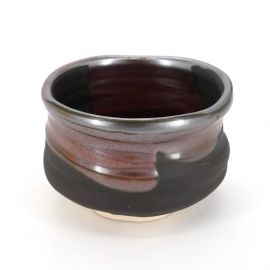 Japanese tea bowl for ceremony, KURO, black
