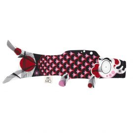 black koi carp-shaped windsock KOINOBORI ELEGANT