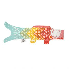 multi-color koi carp-shaped windsock KOINOBORI RAINBOW