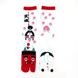japanese cotton tabi socks for men, PEACHBOY, white