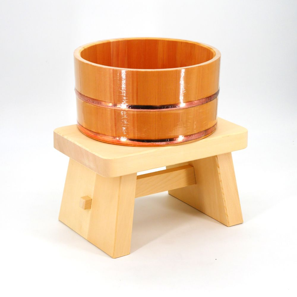 japanese toilet wooden set, SENTO, stool and basin