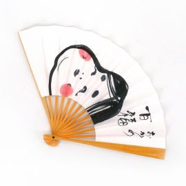Japanese fan of paper and bamboo, OKAME, goddess