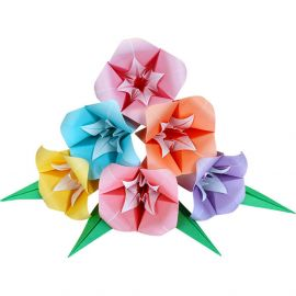 set of 50 sheets of Japanese paper, origami Flowers, ORIZURU