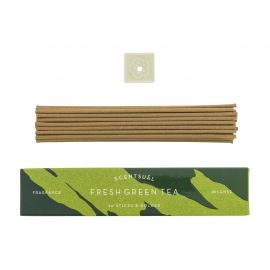 Box of 30 incense sticks with incense holder, SCENTSUAL FRESH GREEN TEA, Green Tea