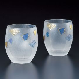 duo of japanese whisky glasses made in Japan - NAMICHIDORI