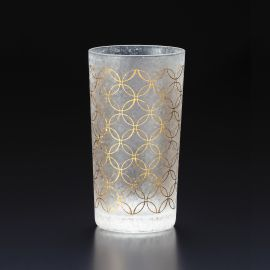 Japanese glass with shippou pattern - WAKOMON