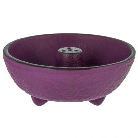 Incense burner in purple cast iron, IWACHU, fountain