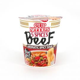 Cup of Instant Ramen withbeefflavor, NISSIN CUP NOODLE BEEF
