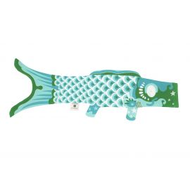Koi carp-shaped windsock KOINOBORI turquoise