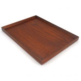 large rectangular tray, brown color