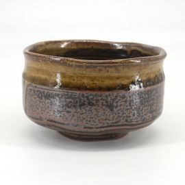 Japanese tea ceremony bowl - chawan, KASSHOKU, brown