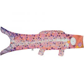 Koi carp-shaped windsock KOINOBORI Phosphorescent skeleton
