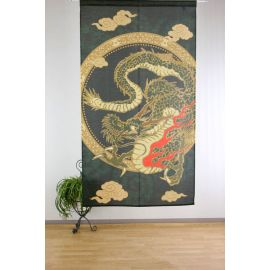 Japanese noren polyester curtain, RYU TO KUMO