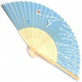 japanese fan - silk and bamboo - Sakura Cho