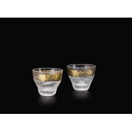 Set of 2 Japanese sake glasses, PREMIUM ICHIMONJI