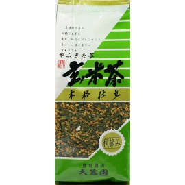 japanese green tea Genmaicha. net weight 200g. Shizuoka Japon