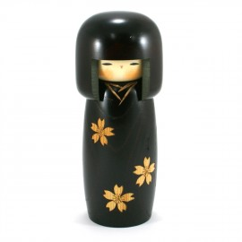 Japanese doll wooden KOKESHI. handmade in Japan - SAKURA 10