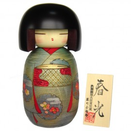 Japanese doll wooden KOKESHI. handmade in Japan - SHUNKO