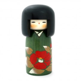 Japanese doll wooden KOKESHI. handmade in Japan - TSUBAKI