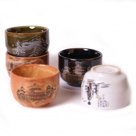 set of 5 Japanese sake cups258605