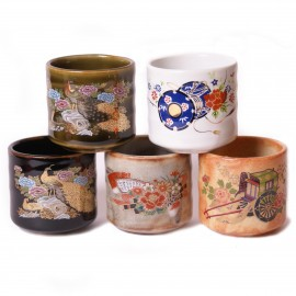 set of 5 Japanese sake cups258634