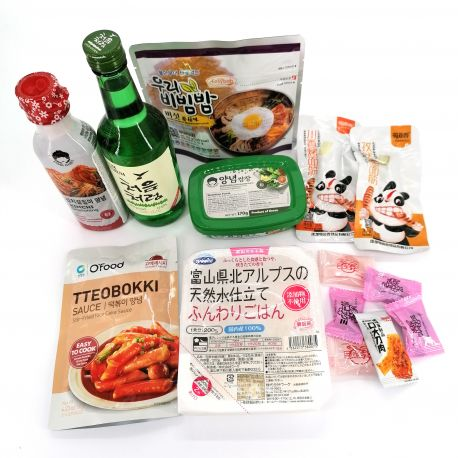 """Food box """"discovery of Korean gastronomy"""""""