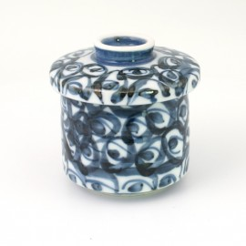 blue tea cup with lid ceramic 1102670
