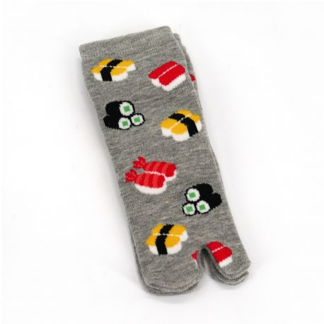 Japanese cotton tabi socks for children with sushi and maki pattern, SUSHI MAKI, color of your choice, 13 - 18cm