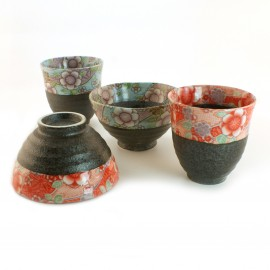 Japanese rice bowl set and cup set 4 pieces 16M44325