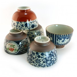 Set of 5 bowls Japanese rice 16M1631840