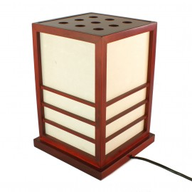 Japanese red table lamp Nikko