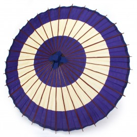 japanese umbrella navy blue