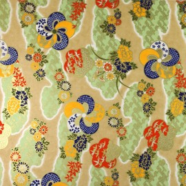 Japanese Washi paper Yuzen designed By Taniguchi Kyoto Japan 8022-3