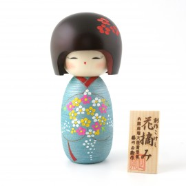 Japanese doll wooden KOKESHI. handmade in Japan - NOBANA