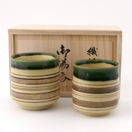 cups duo Oribe Japanese ceramic tea 75224