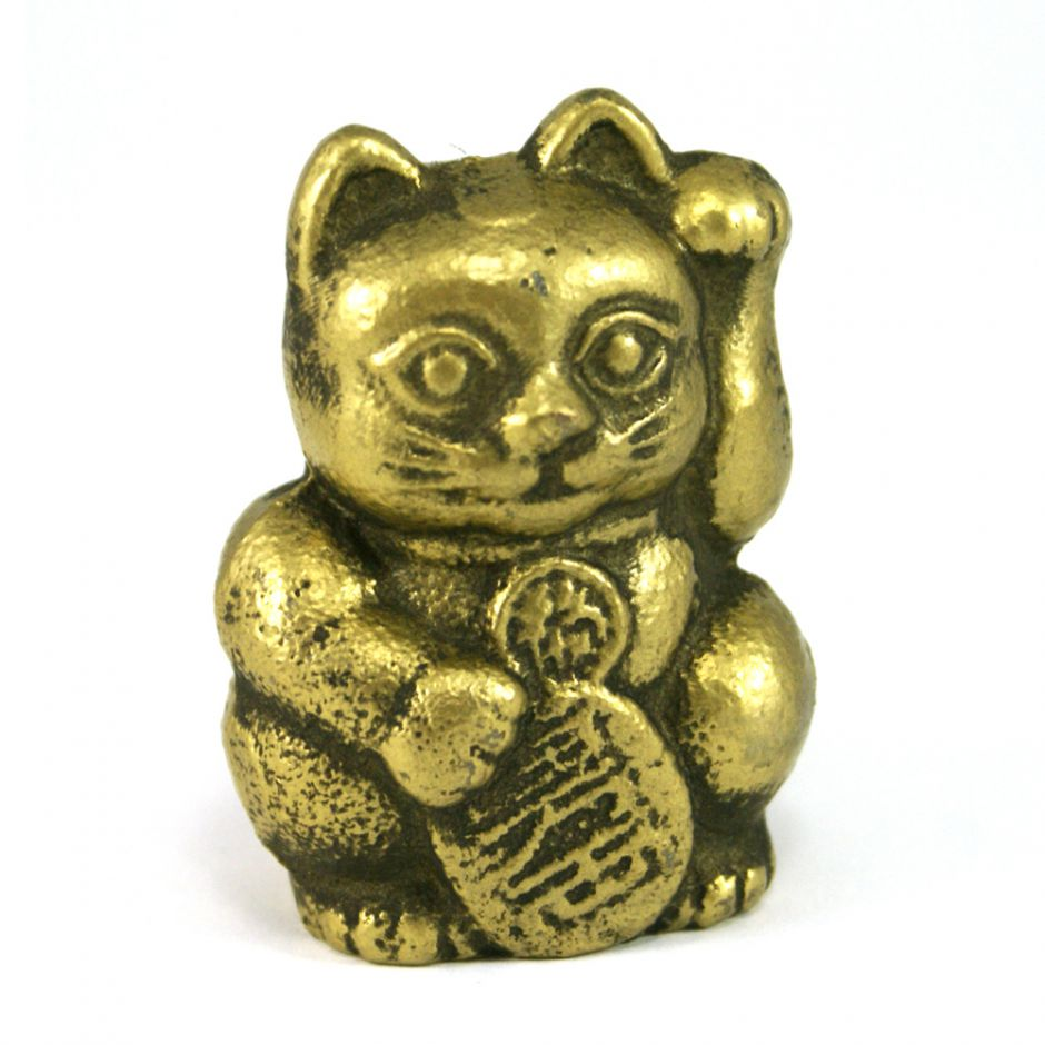 Cast iron lucky cat