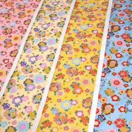 Japanese Washi paper Yuzen designed By Taniguchi Kyoto Japan Flower